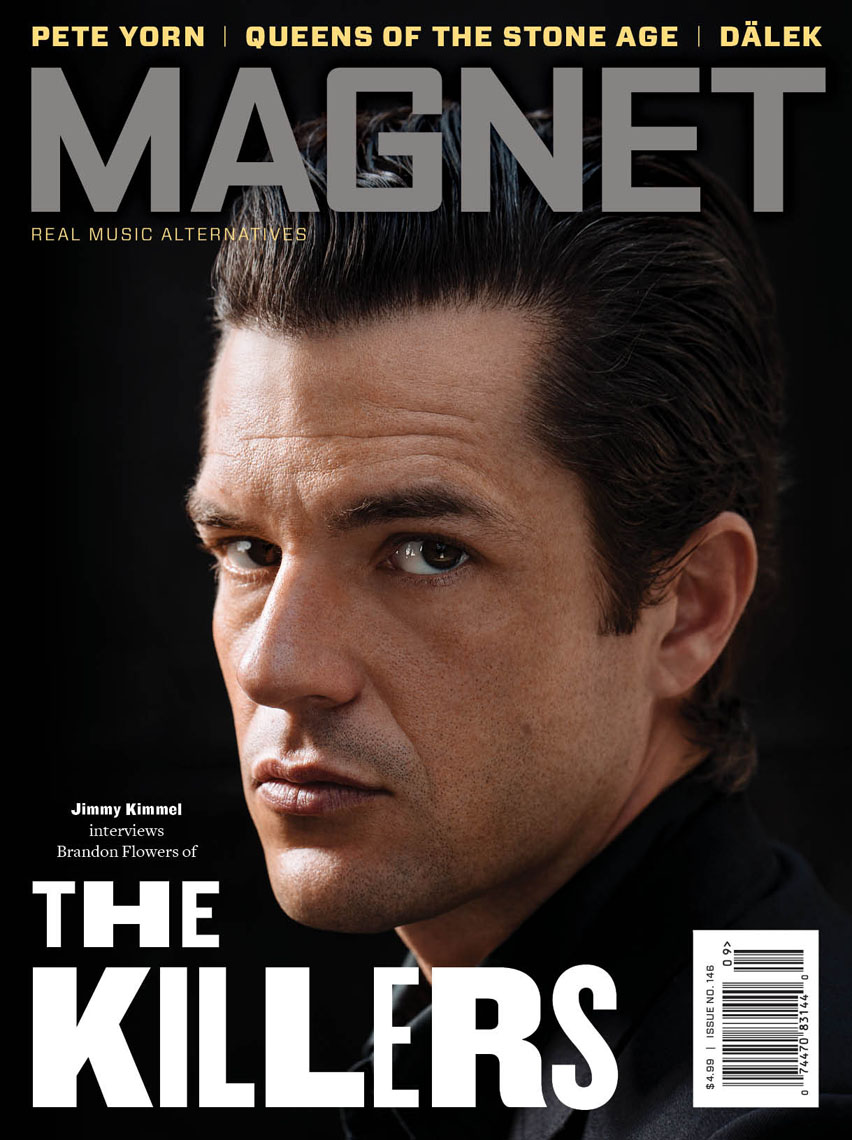 Magnet Magazine cover photo with Brandon Flowers of The Killers