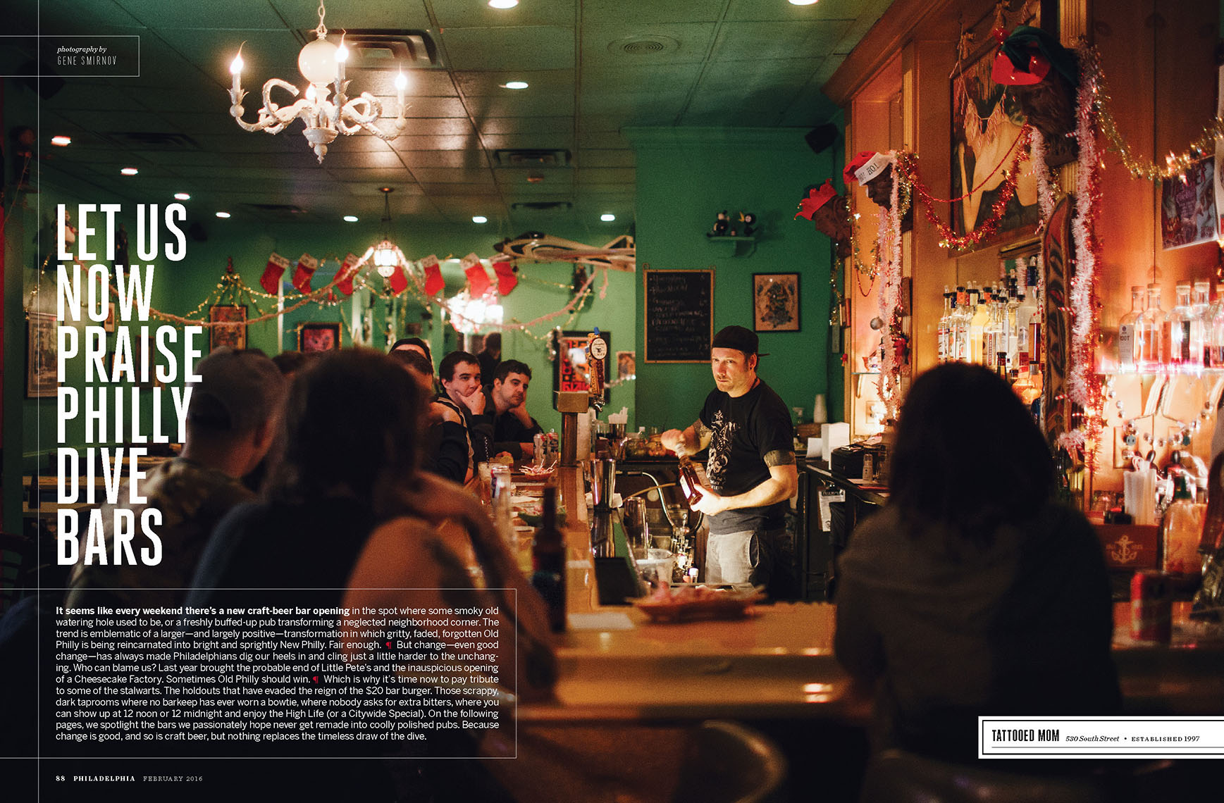 Dive bars of Philadelphia feature for Philadelphia Magazine