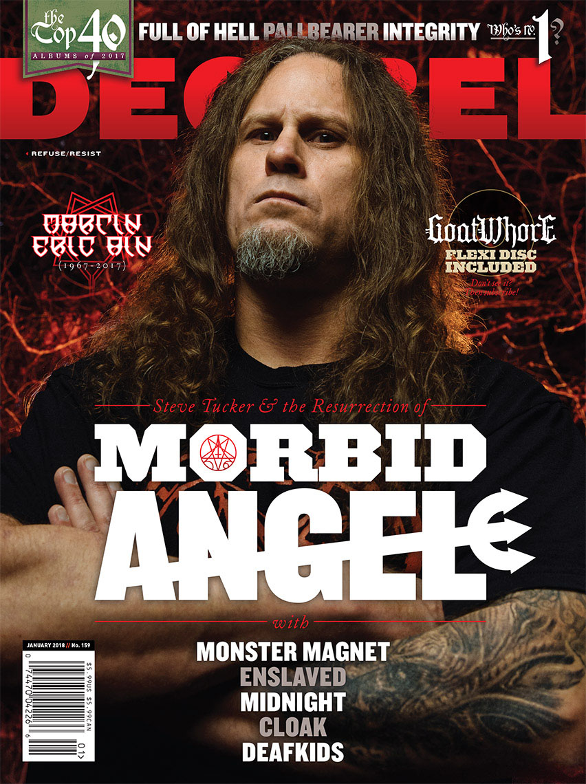 Steve Tucker of Morbid Angel for Decibel Magazine feature story