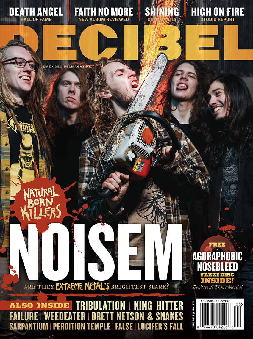 Decibel Magazine cover photo featuring Noisem