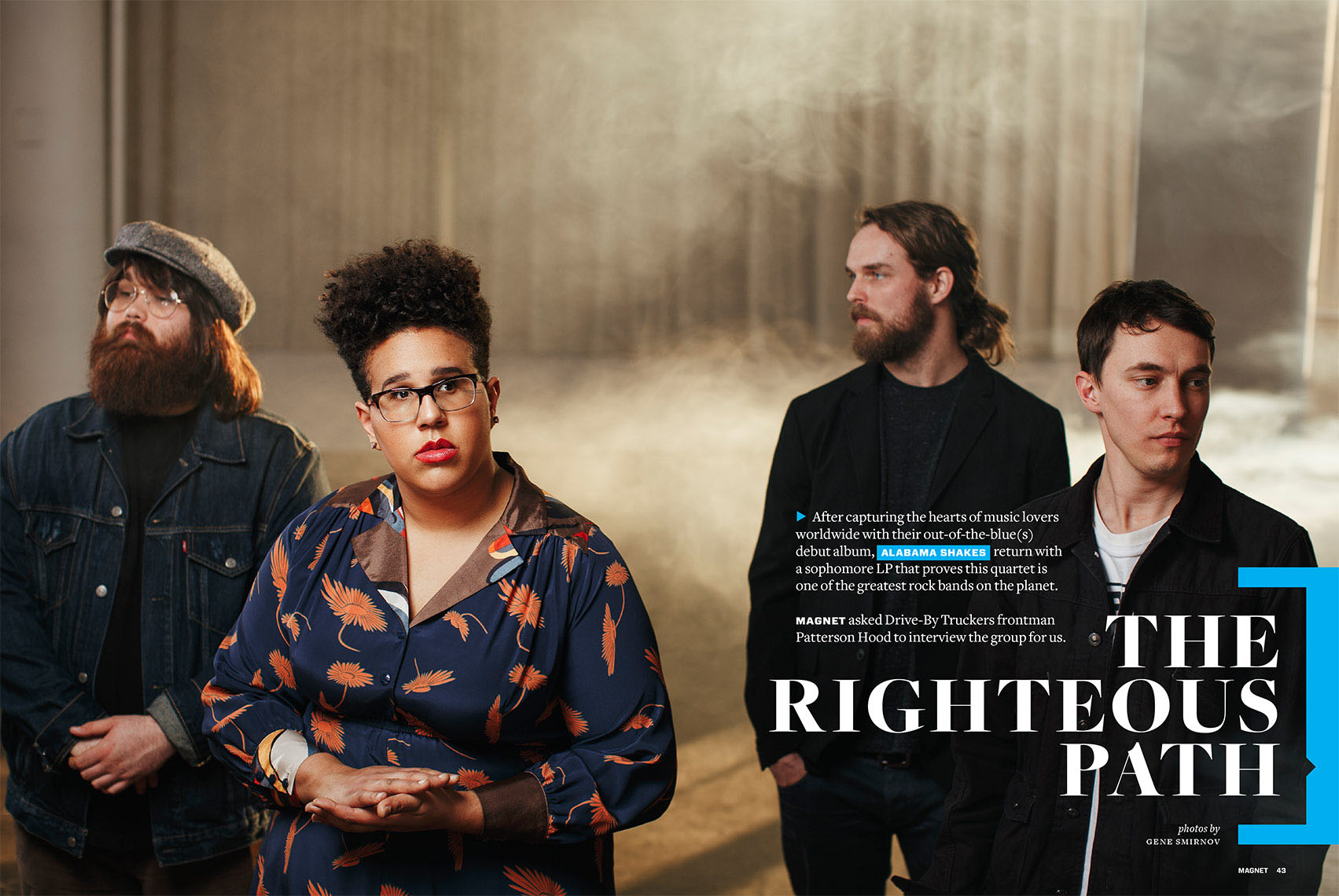 Editorial feature of Alabama Shakes