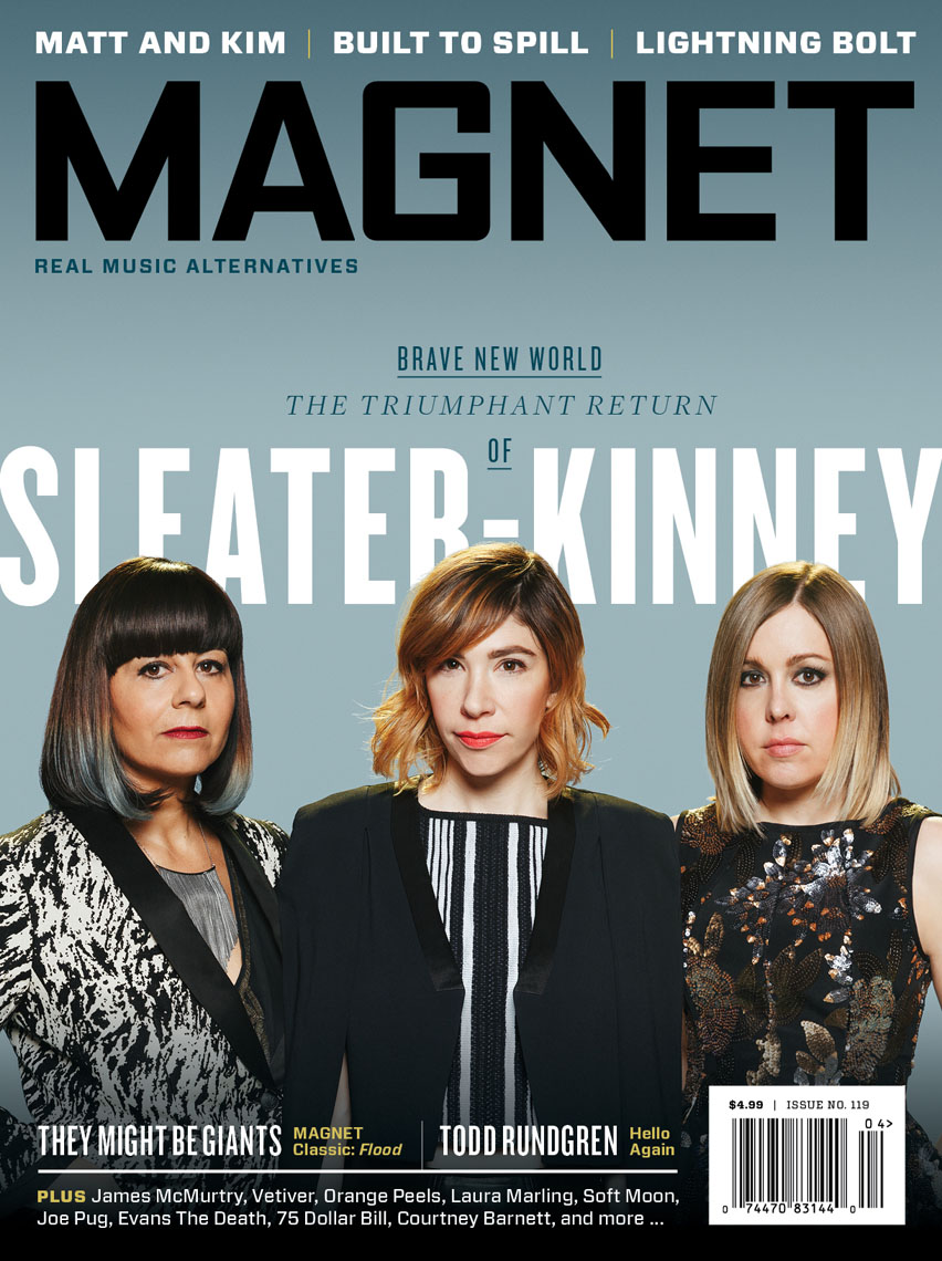 Sleater Kinney for Magnet Magazine featuring Corin Tucker, Carrie Brownstein, and Janet Weiss