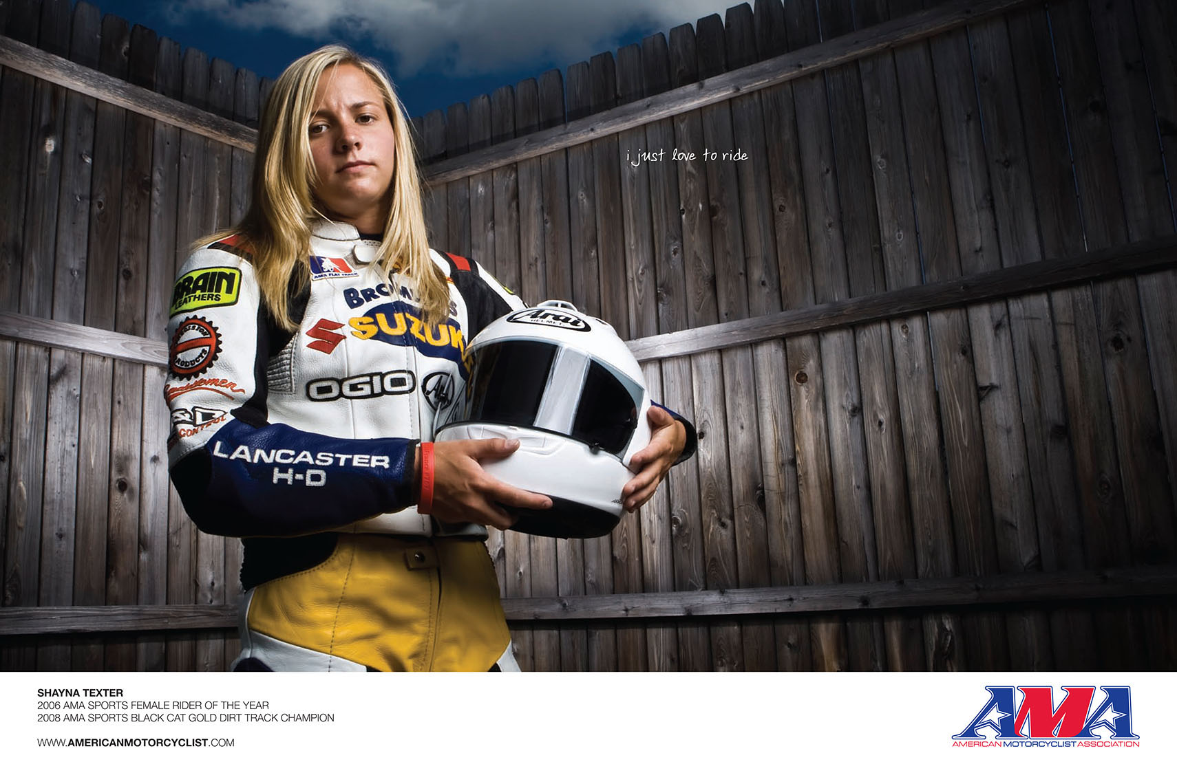 Shayna Texter for AMA American Motorcyclist Association