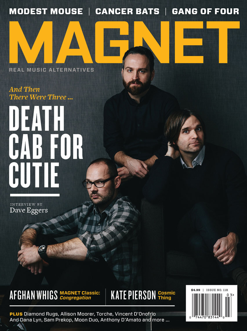 Death Cab for Cutie for Magnet Magazine featuring Ben Gibbard, Nick Harmer and Jason McGerr