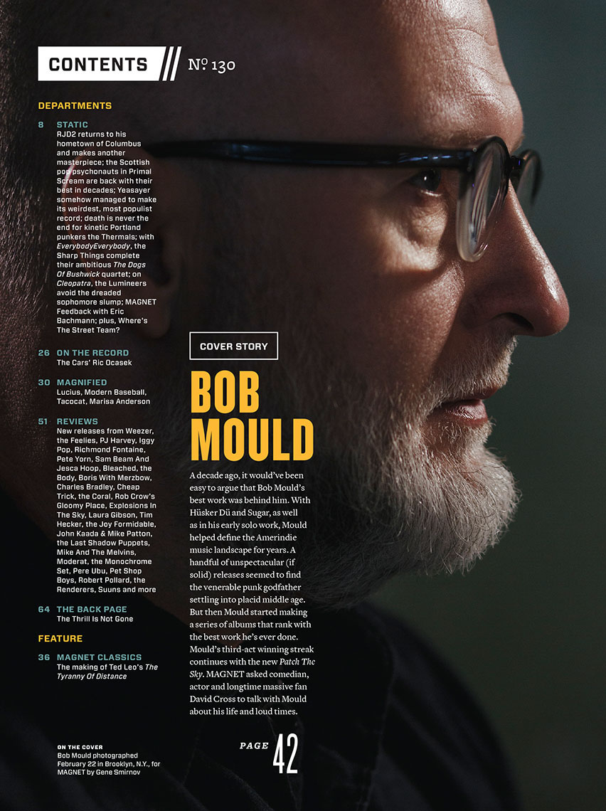 Bob Mould for Magnet Magazine
