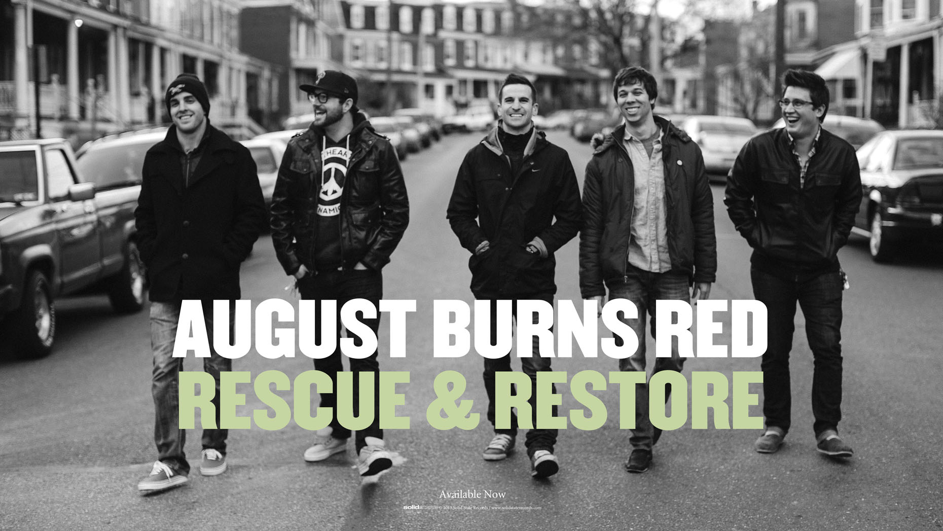 August Burns Red promotional poster shot in Lancaster, PA