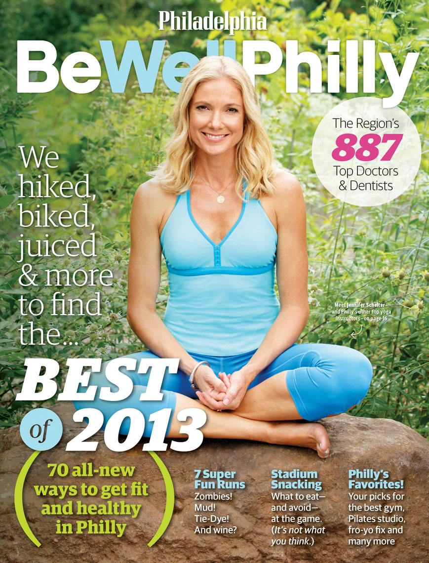 Be Well Philly cover story featuring Jennifer Schelter