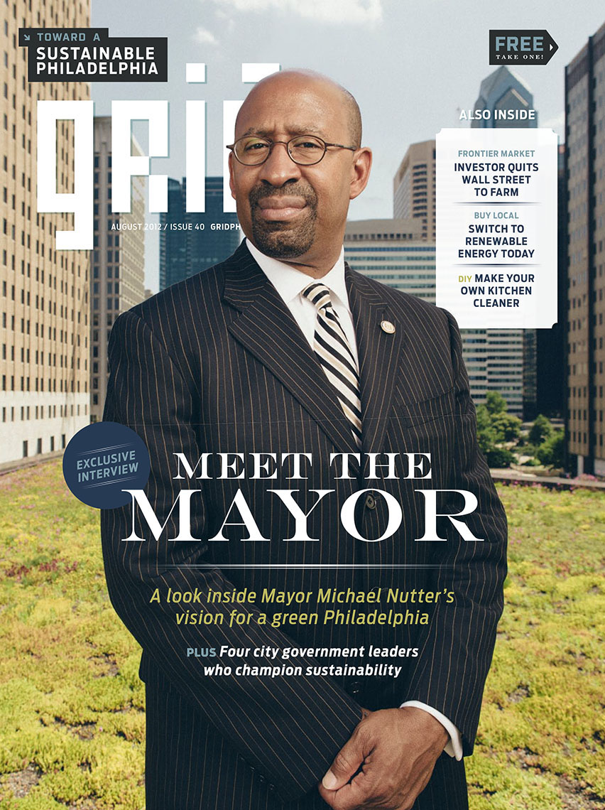Philadelphia mayor Michael Nutter for Grid Magazine cover feature
