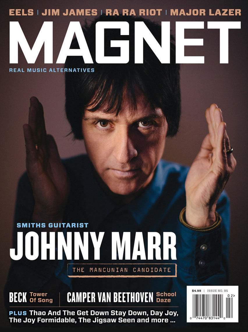 Magnet Magazine cover featuring Johnny Marr