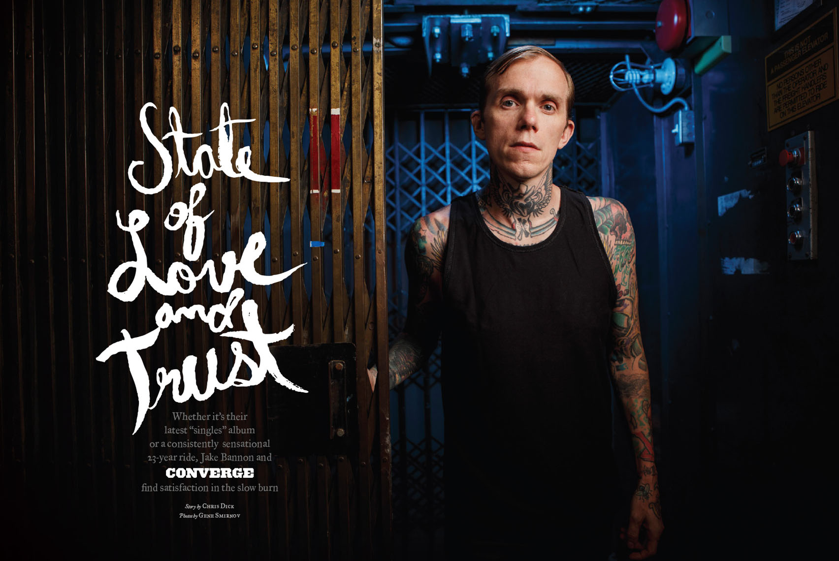 Jacob Bannon of Converge for Decibel Magazine feature