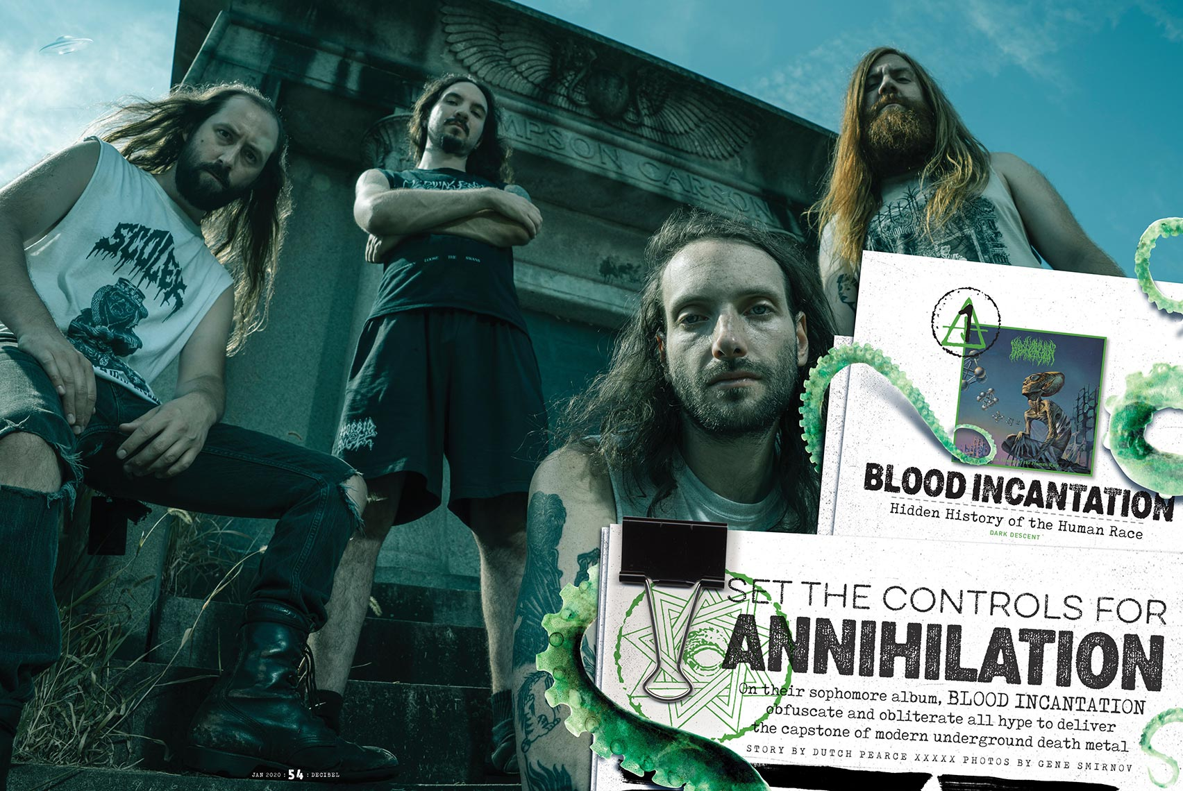 Blood Incantation for Decibel Magazine