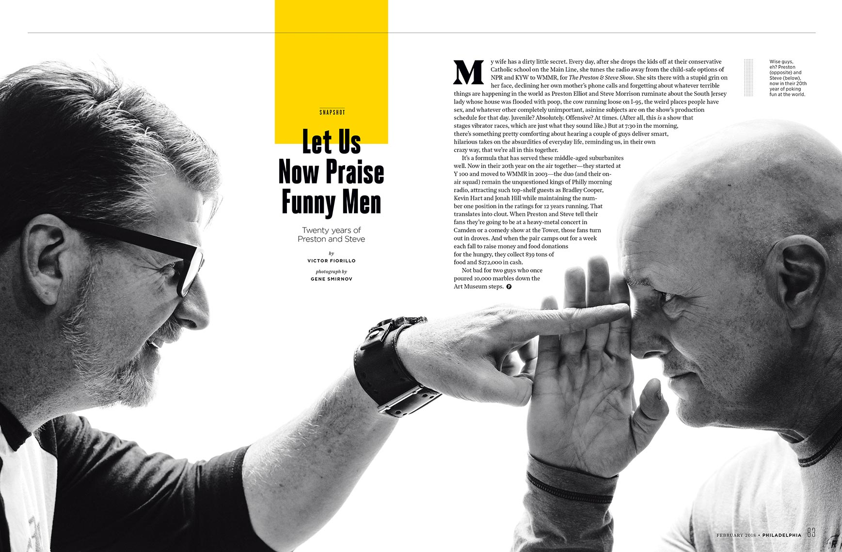 Preston & Steve for Philadelphia Magazine