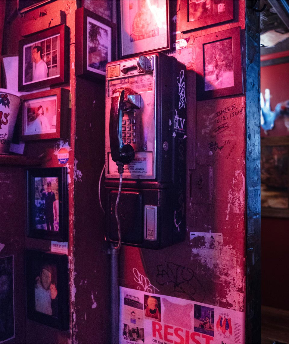 Phone at the  dive bar