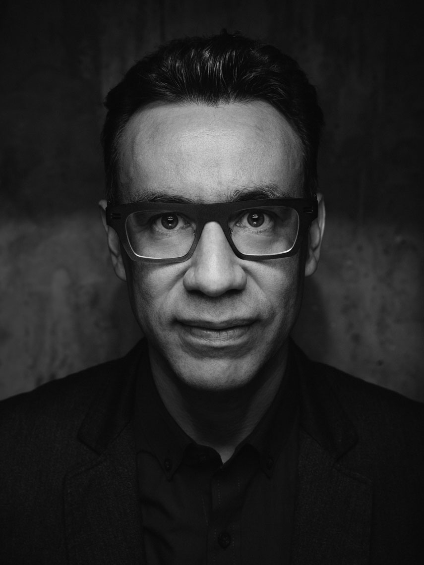 Fred Armisen black and white portrait