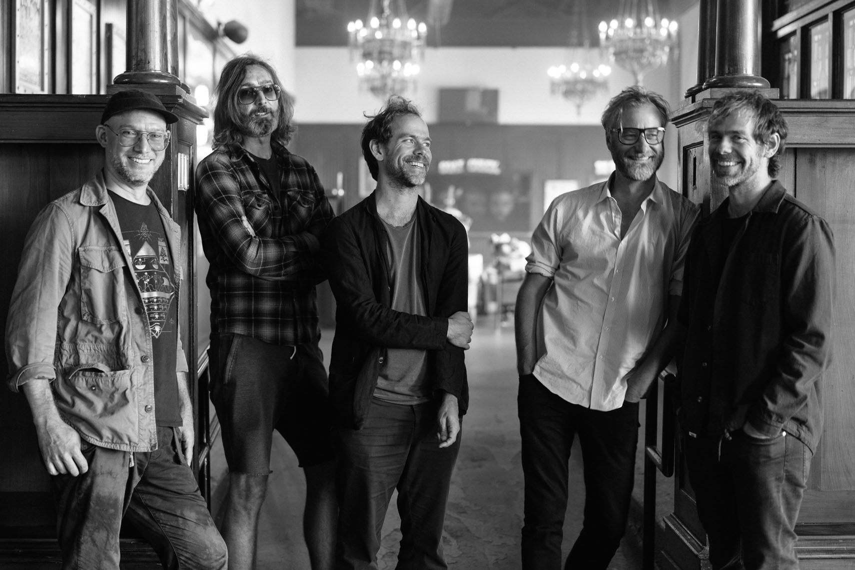 Matt Berninger, Aaron Dessner, Bryce Dessner, Scott Devendorf and Bryan Devendorf at Union Transfer