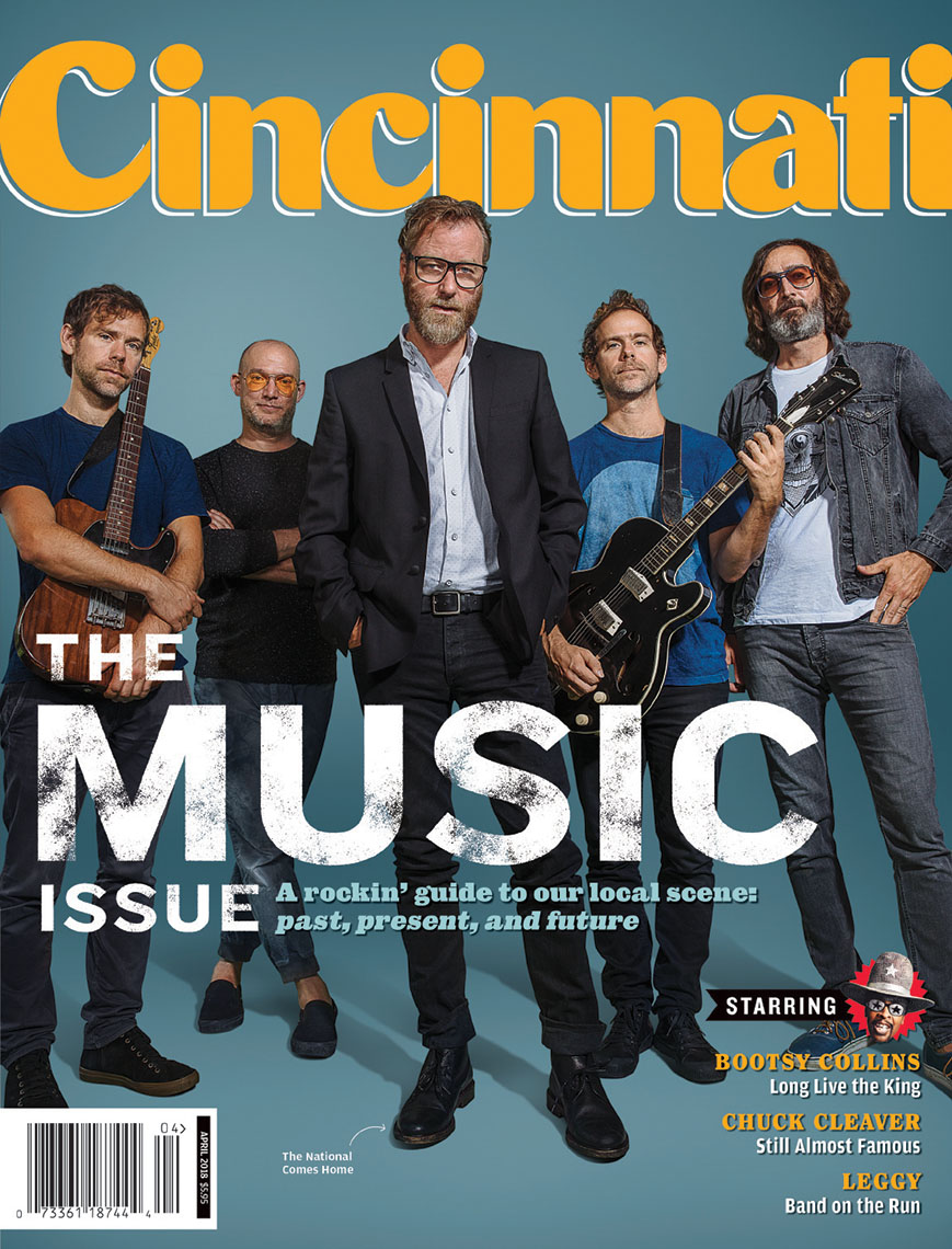 Cincinnati Magazine cover photo with The National